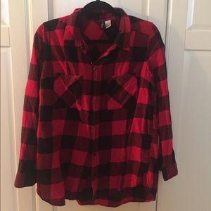 H&M Red plaid shirt